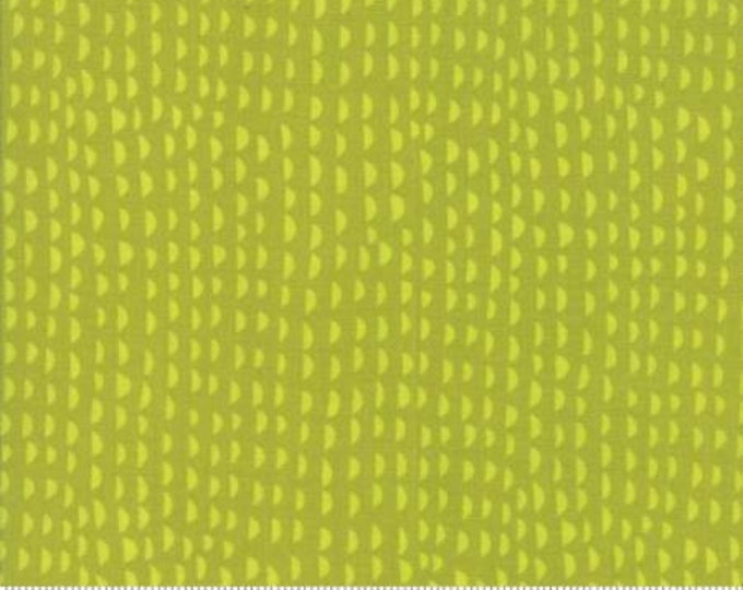 Moda Fabric - Just Another Walk in the Woods - Ruffles Lime Green Cotton Woven Fabric