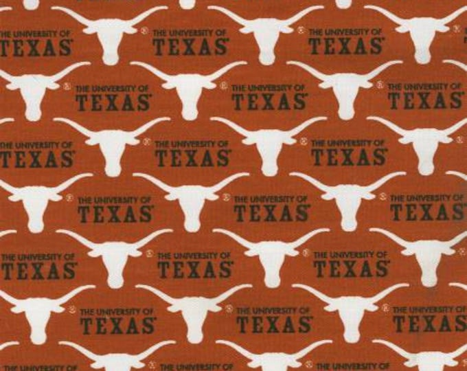 SALE !!! Texas Longhorns 65/35 Poly Cotton Twill Fabric 58/59 Inches wide