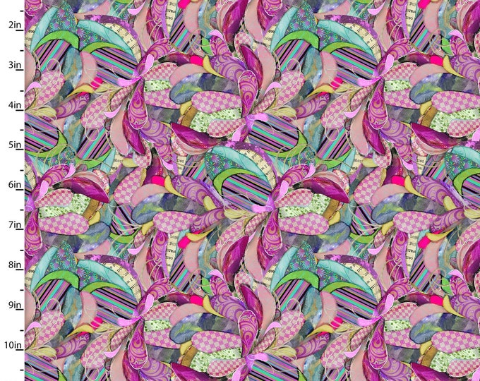 3 Wishes Fabric - Boho Owls by Connie Haley- Digitally Printed - Fancy Feathers  13788-Multi Cotton Woven Fabric