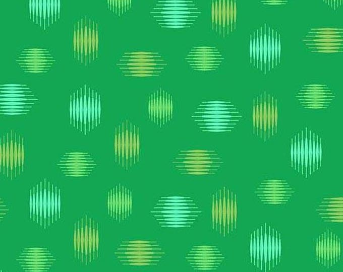 Libs Elliott, Tattooed Green Highline Cotton Woven, A-8439-G, by Andover Fabrics