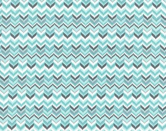 Michael Miller Fabrics - Rustique Winter -  Aqua Tweed cotton woven fabric