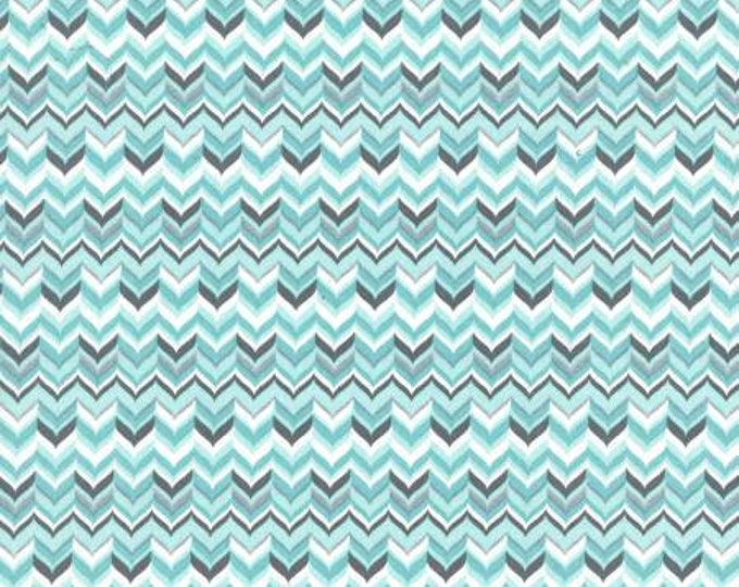 Michael Miller Fabrics - Rustique Winter -  Aqua Tweed cotton woven fabric