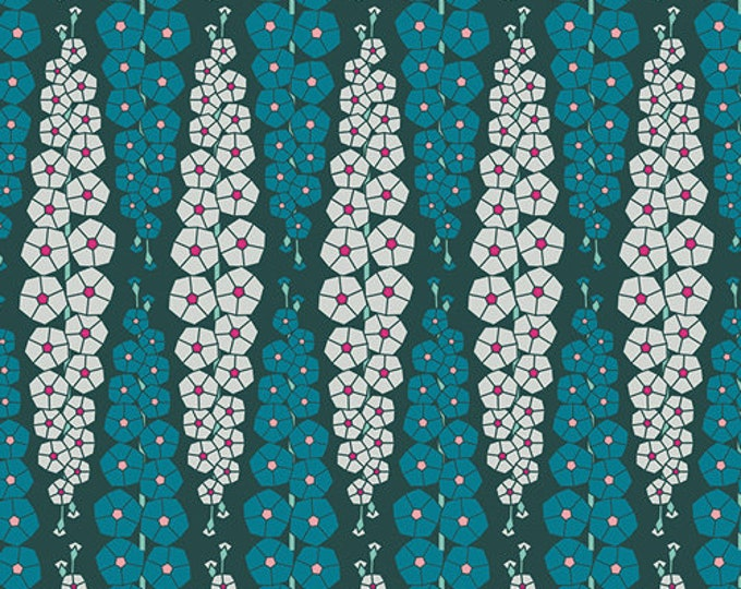 Art Gallery Fabric - Loved to Pieces -Deep Blue Gladiolumns - Gentle - Cotton Woven