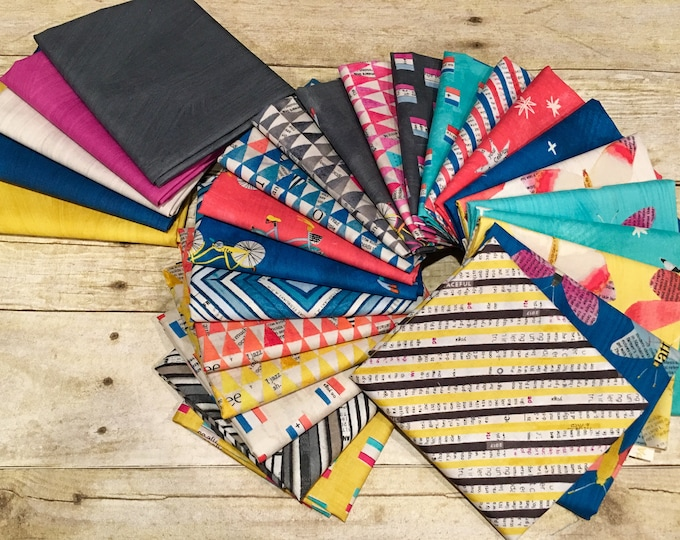 Fat Quarter Bundle of 28 Prints, Wonder by Carrie Bloomston for Windham Fabrics
