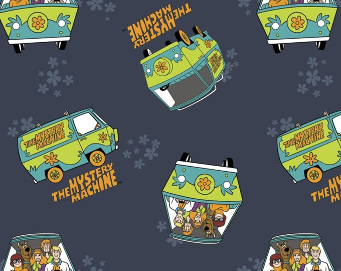 Camelot Fabrics - Licensed Scooby Doo 2 - Mystery Machine Navy 23700303-02 - Cotton Woven Fabric