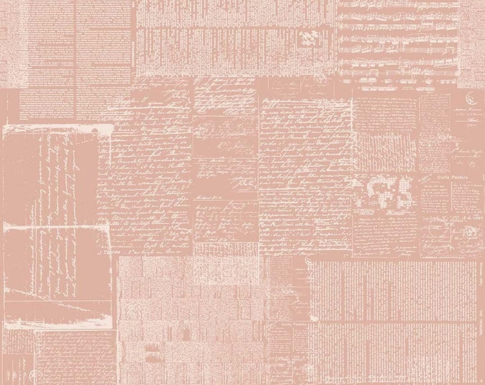 Riley Blake Fabrics - Abbie by Sue Daley - Text Pink - Cotton Woven Fabric