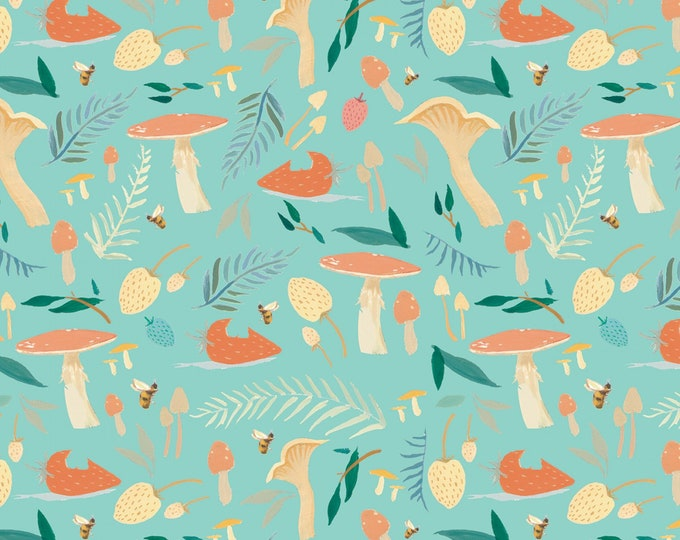 Riley Blake Designs - Dream World by Emily Winfield Martin - Toadstools Mint # C9081R-MINT - Licensed Cotton Woven Fabric