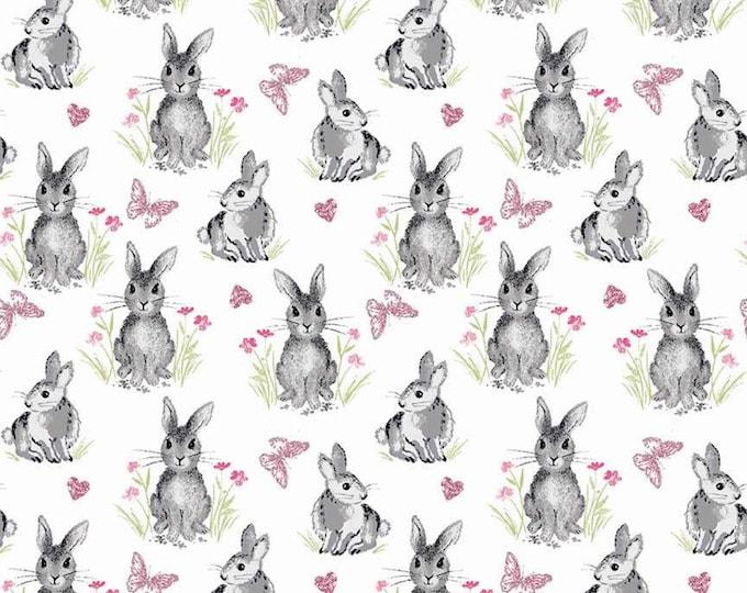 Pretty Bunnies Novelty White C9005-WHITE - The RBD Designers for Riley Blake Fabrics