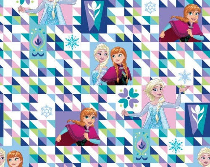 Springs Creative - Frozen sisters Geo design Cotton Woven Fabric