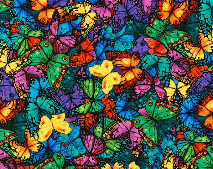 Timeless Treasures - Pavilion Packed Butterflies cotton woven Fabric