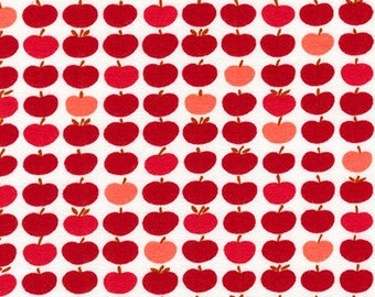 Robert Kaufman Fabrics - Laguna Jersey Prints -  Red Apples Cotton Lycra Knit