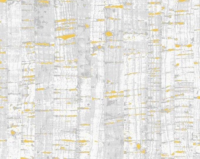 Windham Fabrics - Uncorked -  White 50107M-4 Metallic cotton woven fabric