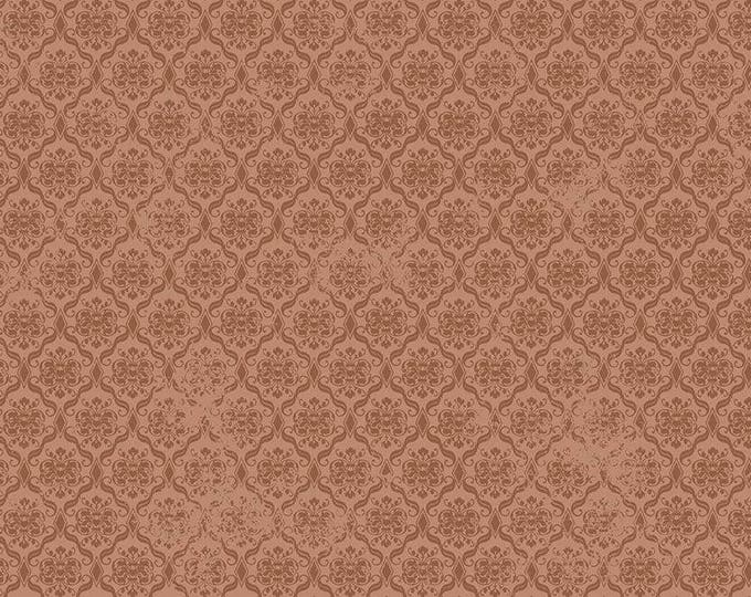 Santoro, Birds of a Feather, Damask Brown cotton woven fabric by Quilting Tresures