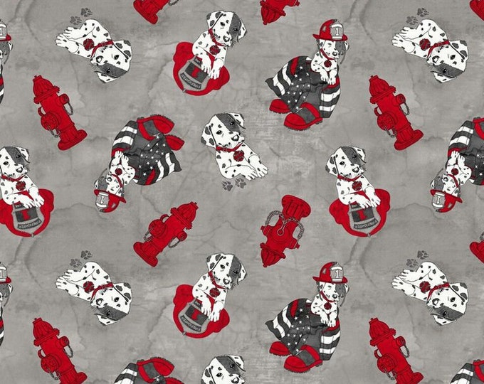 Thin Red Line - Dalmatian on Dark - Cotton Woven Fabric - Blank Quilting 9320-90