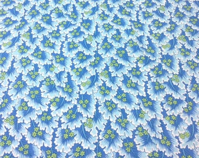 Snow Leopard Farnham Blue floral Cotton Woven