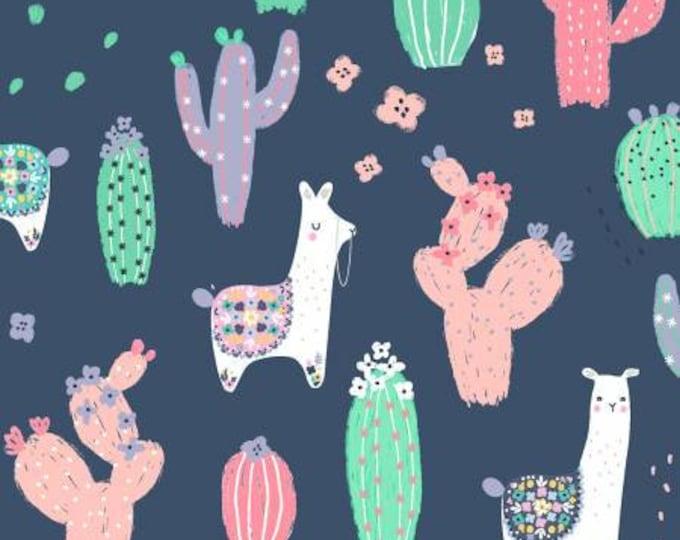 Dear Stella - No Probllama - Dutch Llama - Blue - Cotton Woven Fabric - Dear Stella-1044