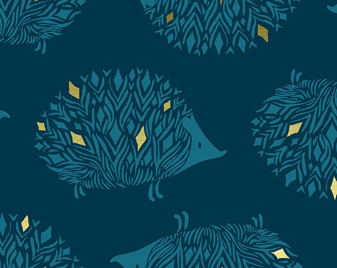 Moda Fabrics - Darlings by Ruby Star Society - Prickles Metallic Dark Teal RS5017 12M - Cotton Woven Fabric