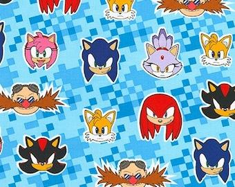 Robert Kaufman Fabrics - Licensed Sonic the Hedgehog - AXX-73952-4 BLUE - Cotton Woven Fabric