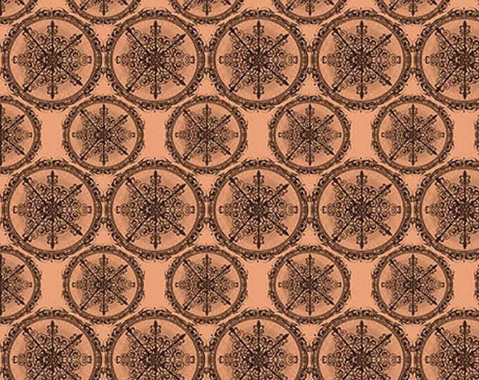 Quilting Treasures - Santoro Adrift - Mermaid Star Medallions Terracotta cotton woven fabric