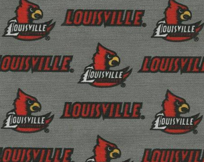 SALE !!!! Louisville Cardinals 65/35 Poly Cotton Twill Fabric 59 Inches wide