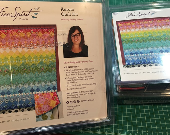 Tula Pink's Aurora Zuma Aurora Quilt Kit - Finished size 68in x 79in