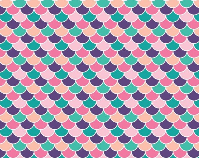 Camelot Fabrics - Very Punny - Purple Scallops # 21181711-1 - Cotton Woven Fabric
