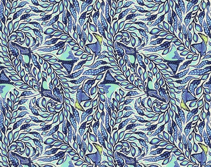 Tula Pink - Zuma - Stingray - Aquamarine  - Cotton Woven Fabric - FreeSpirit PWTP123-AQUA