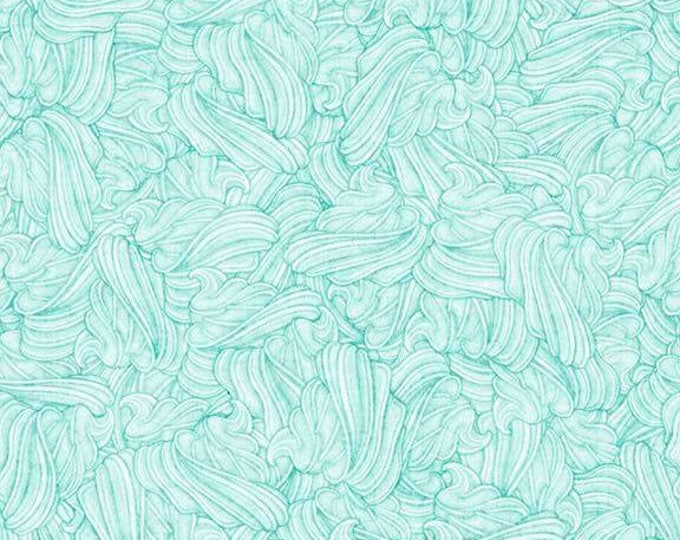 Quilting Treasures -  Home Sweet Home - Whipped Cream Aqua Frosting cotton woven fabric