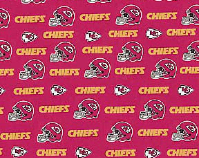 Fabric Traditions - Licensed NFL Football - Kansas City Chiefs Cotton 60in # 6315-D Cotton Woven Fabric