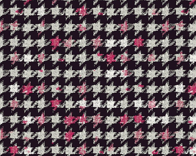 CLEARANCE - Art Gallery Fabric - Decadence - Amour Houndstooth XIV - Cotton Spandex Knit - Bari J - Price per yard