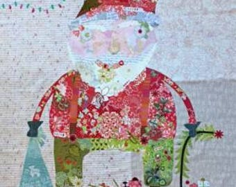 Pattern - Nick Santa Collage Pattern by Laura Heine