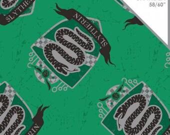 Camelot Fabrics - Harry Potter Knit - Harry Potter Slytherin Green Cotton Spandex Knit fabric