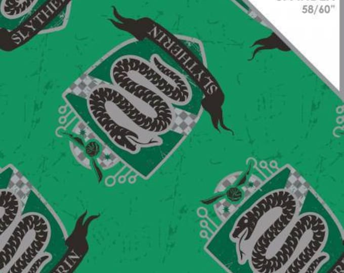 Camelot Fabrics - Harry Potter Knit - Harry Potter Slytherin Green Cotton Spandex Knit fabric