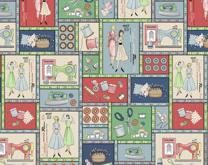 Ecru Large Patch 9382-41 Cotton Woven Fabric - Betterstitch by Blank Quilting