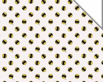 Camelot Fabrics - DC Comics -  Batman Logo Bambino Double Gauze baby fabric
