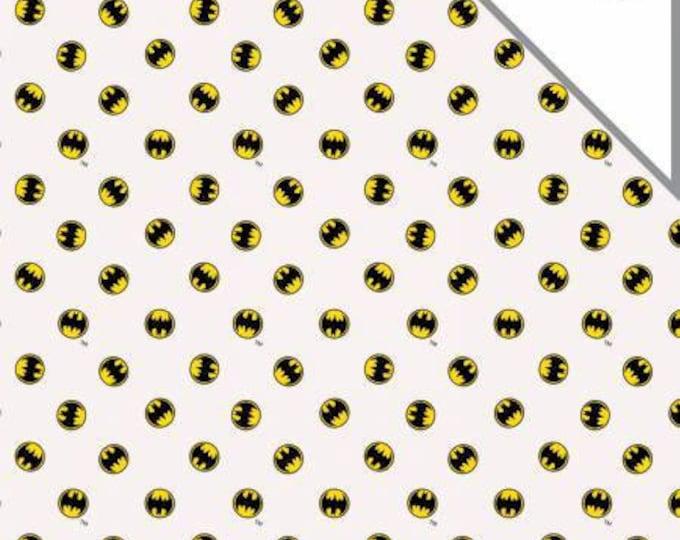 DC Comics, Batman Logo Bambino Double Gauze baby fabric by Camelot Fabrics
