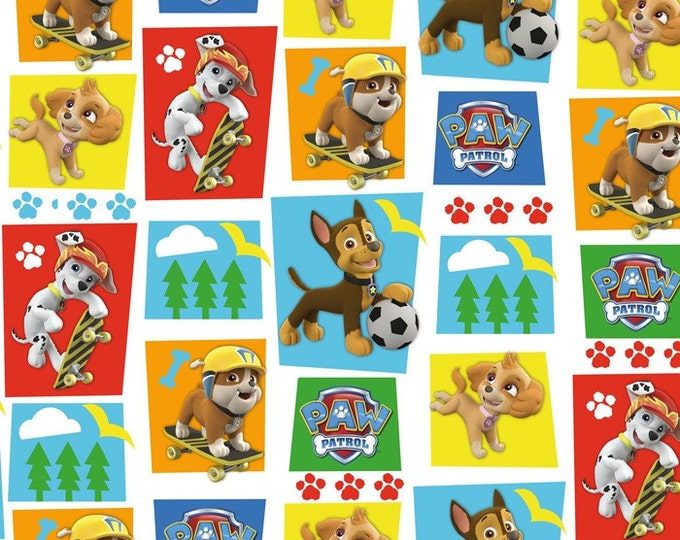 Paw Patrol Character Blocks Cotton Woven