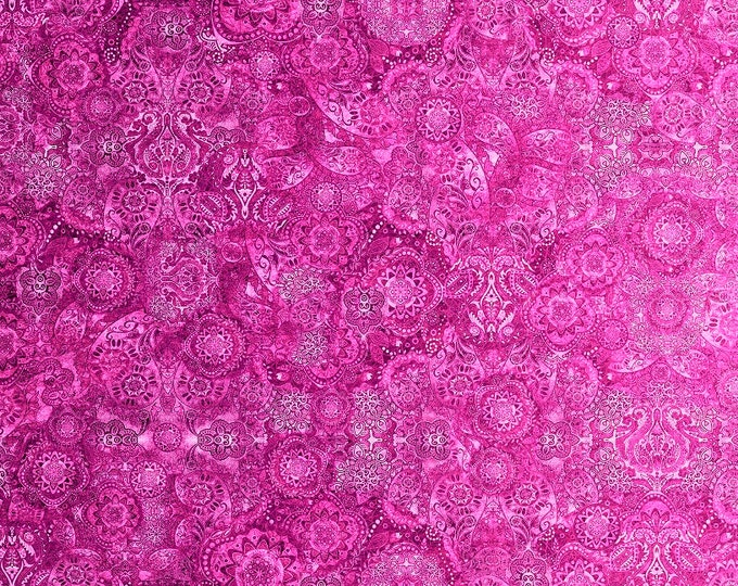 Quilting Treasures  - Bohemian Rhapsody by Dan Morris - Sugar Magnolia -   26956 P Cotton Woven Fabric
