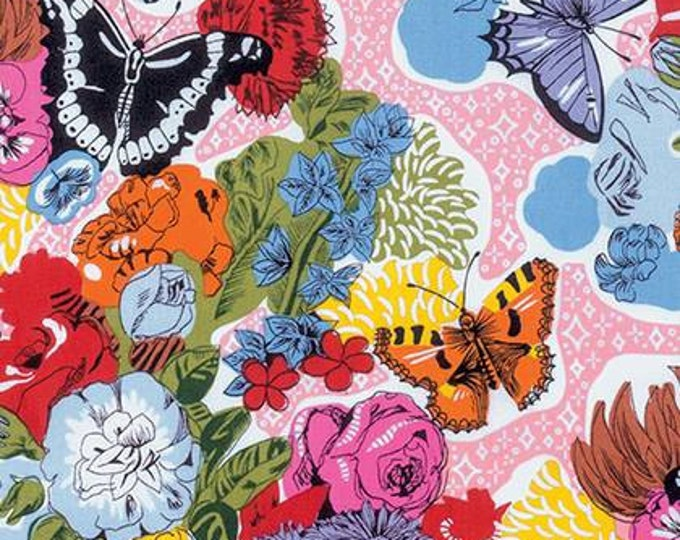 Juliana Horner, Fast Friends, Sparkle Bed daytime Butterfly and Floral Cotton Woven