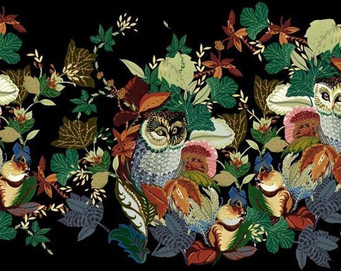Alexander Henry Fabrics - Fall Harvest - 8821b Black Harvest Owl - Cotton Woven Fabric
