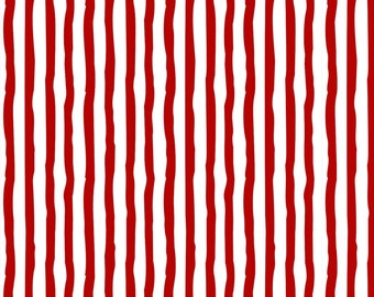 Henry Glass Fabrics - Winter Whimsy Flannel - Red/White Stripe Flannel # F1626-08 - 100% Cotton Flannel