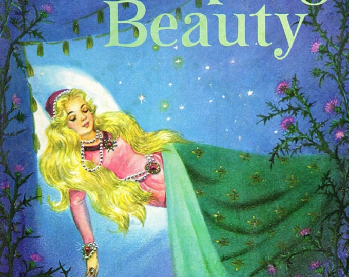 David's Textiles - Vintage Storybooks from Four Seasons - Sleeping Beauty # BW01520C1 - Cotton Woven Fabric