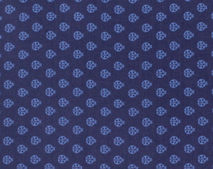 Tula Pink -  True Colors Ladybugs Abyss Blue Cotton Woven Fabric