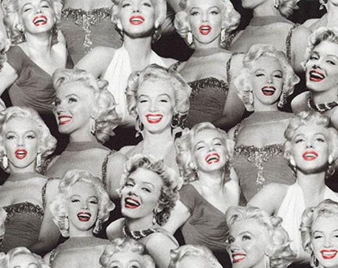 More Marilyn Monroe - Lipstick - Cotton Woven Fabric by Robert Kaufman