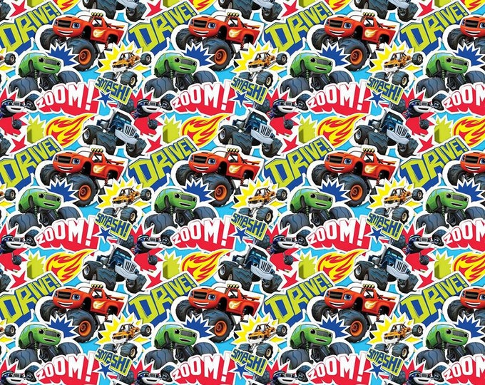 Blaze Zoom packed cotton fabric, Springs Creative
