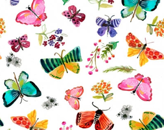 Dear Stella - Spring Theory - White Butterflies   -  ST-DAW1092 Cotton Woven Fabrics
