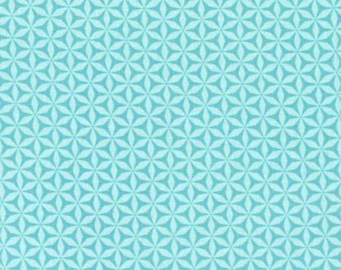 Rustique Winter, Aqua Flurry cotton woven fabric by Michael Miller Fabrics