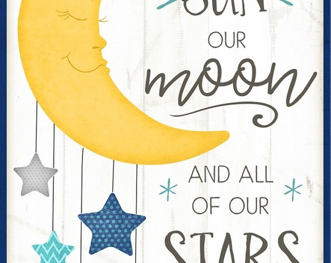 """Wilmington Prints - All Our Stars by Jennifer Pugh - 24"""" Panel # 82575-154 - Cotton Woven Fabric"""
