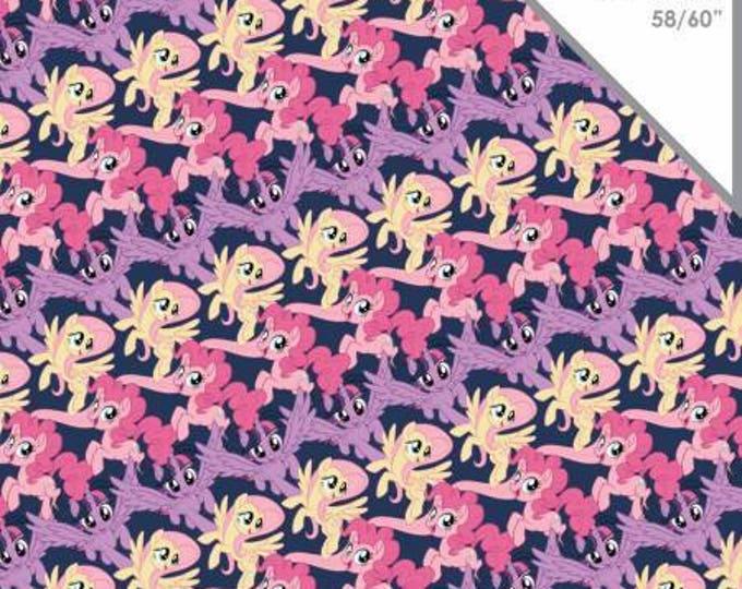 Pony Stripes Cotton Lycra Knit fabric