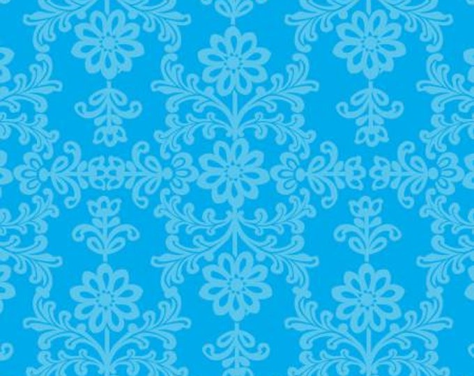 David Textiles - Blue Frida's Damask Cotton Woven Fabric
